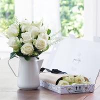 Letterbox 12 White Roses