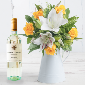 Buttercup & White Wine Gift Set