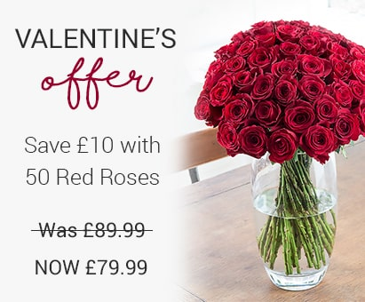 Valentine's 50 Red Roses