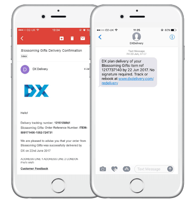 DX Email & Text Message